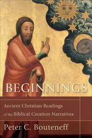 Cover of: Beginnings | Peter C. Bouteneff