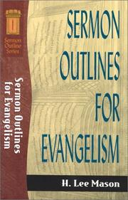 Cover of: Sermon Outlines for Evangelism (Sermon Outlines (Baker Book))