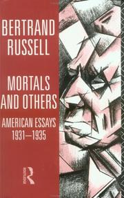 Cover of: Mortals and others