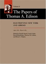 Cover of: The Papers of Thomas A. Edison