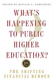 Cover of: What's Happening to Public Higher Education?