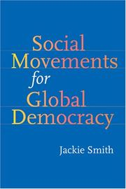 Cover of: Social Movements for Global Democracy (Themes in Global Social Change)