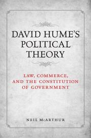 Cover of: David Humes Political Theory