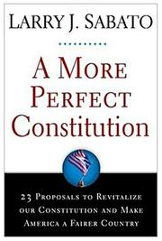 Cover of: A More Perfect Constitution