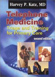Cover of: Telephone Medicine | Harvey P., M.D. Katz