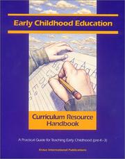 Cover of: Early Childhood Education Curriculum Resource Handbook
