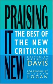 Cover of: Praising It New | Garrick Davis