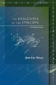 Cover of: The Discourse of the Syncope: Logodaedalus (Meridian: Crossing Aesthetics)