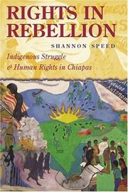 Cover of: Rights in Rebellion | Shannon Speed