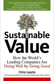 Cover of: Sustainable Value