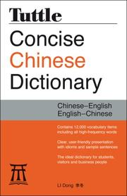 Cover of: Tuttle Concise Chinese Dictionary