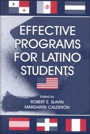 Cover of: Effective programs for Latino students