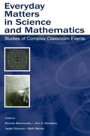 Cover of: Everyday Matters in Science and Mathematics |