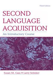 Cover of: Second Language Acquisition by Susan M. Gass
