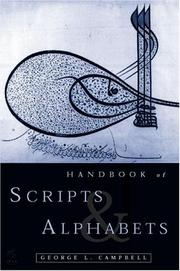 Cover of: Handbook of scripts and alphabets