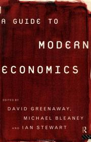 Cover of: A guide to modern economics |