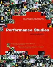 Cover of: Performance studies | Richard Schechner