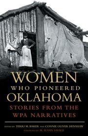 Cover of: Women Who Pioneered Oklahoma |
