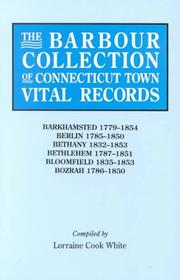 Cover of: The Barbour Collection of Connecticut Town Vital Records [Vol. 2] Barkhamsted,