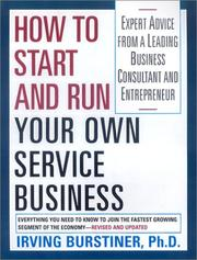 Cover of: How to Start and Run Your Own Service Business | Bursteiner Irving