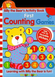 Billy the Bears Activity Book First Counting Games (Billy the Bear Activity Books)
