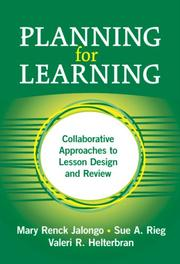 Cover of: Planning for Learning | Mary Renck Jalongo, Sue A. Rieg, Valeri R. Helterbran