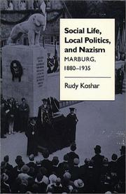 Cover of: Social life, local politics, and Nazism
