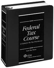 Cover of: Federal Tax Course | Susan Flax Posner