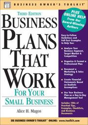 Cover of: Business Plans That Work | Alice H. Magos
