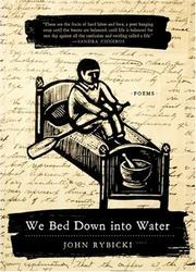 Cover of: We Bed Down into Water