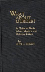 Cover of: What about murder?