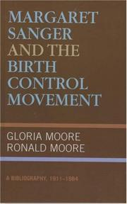 Cover of: Margaret Sanger and the birth control movement