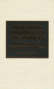Cover of: Indigenous languages of the Americas | Robert Singerman