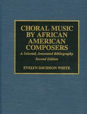Cover of: Choral music by African American composers