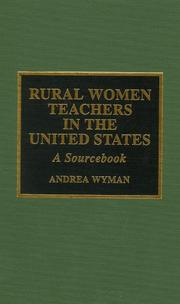Cover of: Rural women teachers in the United States