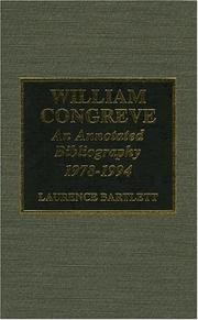 Cover of: William Congreve