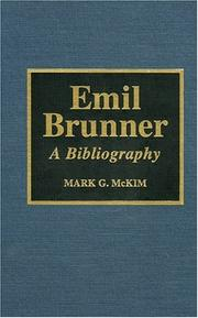 Cover of: Emil Brunner | Mark G. McKim