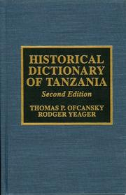 Cover of: Historical dictionary of Tanzania
