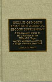 Cover of: Indians of North and South America. | Carolyn E. Wolf