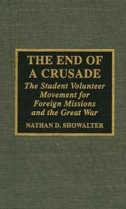 Cover of: The end of a crusade