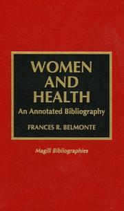 Cover of: Women and health | Frances R. Belmonte