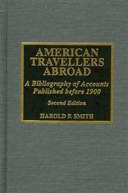 Cover of: American travellers abroad | Harold Frederick Smith