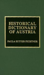 Cover of: Historical dictionary of Austria