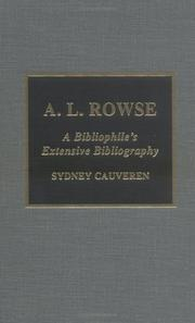 Cover of: A.L. Rowse