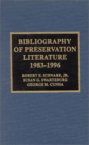 Cover of: Bibliography of preservation literature, 1983-1996