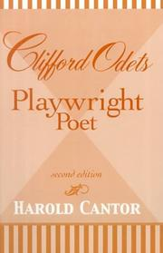 Cover of: Clifford Odets, playwright-poet