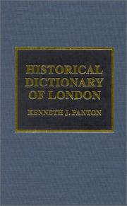 Cover of: Historical dictionary of London