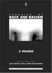 Cover of: Theories of Race and Racism