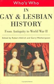 Cover of: Who's Who in Gay and Lesbian History (Who's Who)