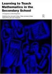 Cover of: Learning to Teach Mathematics in the Secondary School